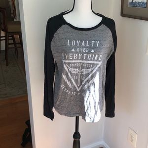 Women's loyalty over everything long sleeve shirt